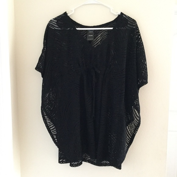 19f41d907d Catalina Black Mesh Kimono Swimsuit Coverup
